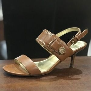 Tommy Hilfiger brown sandal heels size 7.5 inches